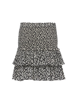 Naomi Printed Tiered Mini Skirt by Isabel Marant Étoile
