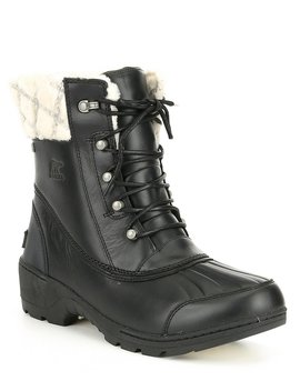 Whistler Leather Mid Block Heel Boots by Sorel