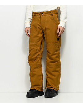 Aperture Boomer Work Pant Tobacco 10 K Snowboard Pants by Aperture