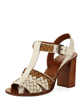 High Heel T Strap Sandal by Bottega Veneta