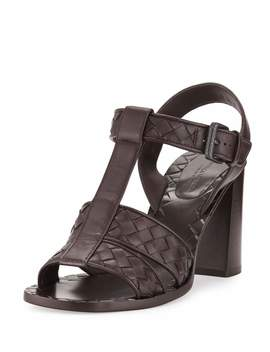 Intrecciato T Strap 80mm Sandal by Bottega Veneta