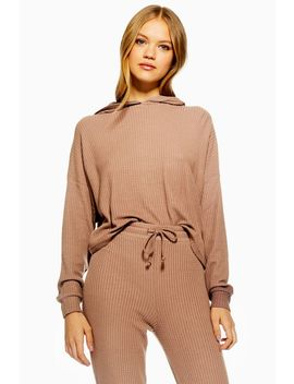 Mocha Waffle Lounge Hoodie by Topshop