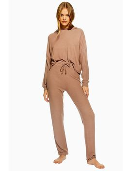 Mocha Waffle Lounge Joggers by Topshop