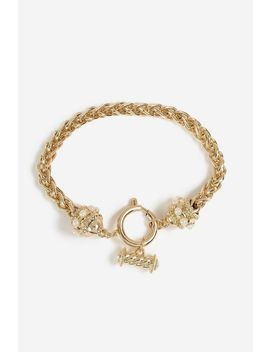**T Bar Pearl Wristwear by Topshop
