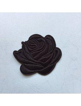 Zwart Bloem Patch   Opstrijkbare Patches, Naai De Patches, Geborduurde Patches by Etsy