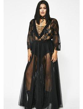 Pitch Dark Modern Love Maxi Dress by Kiki Riki