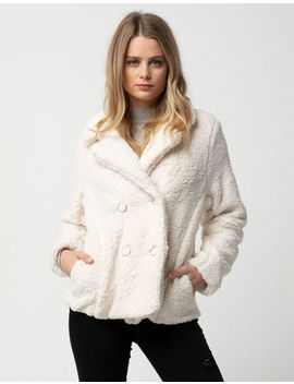 Ashley Double Breasted Cozy Natural Womens Jacket by Ashley