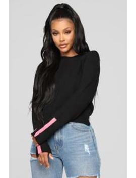 Not Today Sweater   Black/Combo by Fashion Nova