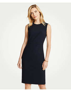 Petite Seasonless Stretch Sleeveless Sheath Dress by Ann Taylor