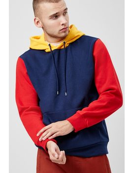 Colorblock Drawstring Hoodie by Forever 21