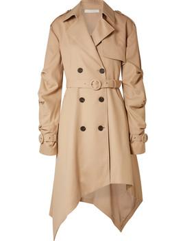 Asymmetric Cotton Twill Trench Coat by Jonathan Simkhai
