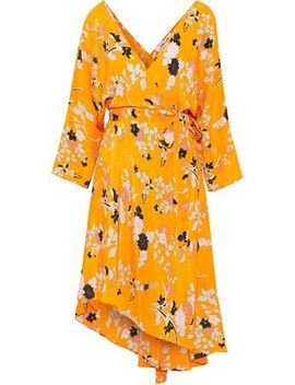 Eloise Asymmetric Floral Print Silk Crepe De Chine Wrap Dress by Diane Von Furstenberg