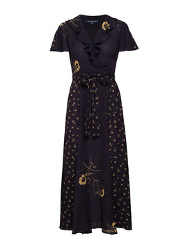 Mahi Crepe Vnck Belted Maxi Dr by French Connection