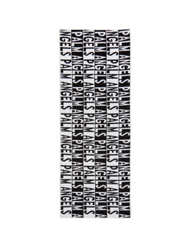 Black & White Logo Scarf by Palm Angels