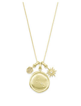 April Taurus Charm Necklace Set In Gold by Kendra Scott