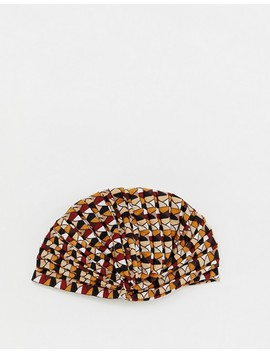 Pretty Little Thing Gathered Twist Turban In Geo Print by Pretty Little Thing