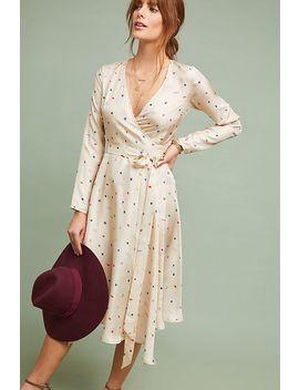 Maria Silk Wrap Dress by Apalma