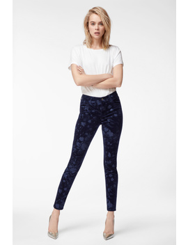 Maria High Rise Super Skinny In Night Out Fleur by J Brand