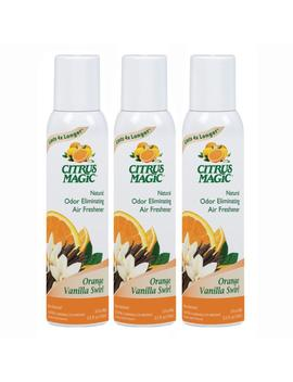 3.5 Oz. Orange Vanilla Swirl Natural Odor Eliminating Air Freshener Spray (3 Pack) by Citrus Magic