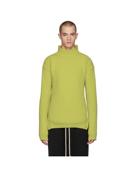 Green Fisherman Turtleneck by Rick Owens
