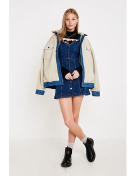 Uo Lilith Denim Button Through Dress by Urban Outfitters Shoppen
