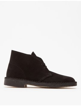 Desert Boot In Black Suede by Clarks