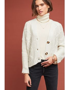 Clason Cable Knit Cardigan by Moth