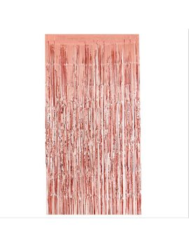 2 M Rose Gold Rain Curtain Tassel Birthday Party Background Curtain Wedding Layout Birthday Christmas Party Decoration by Beadia
