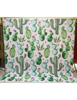 Cactus Green Plant Backdrop  Photogrpahy Backdrops Floral Background Decoration Birthday Party Background Newborn Props Xt 6587 by Huayi