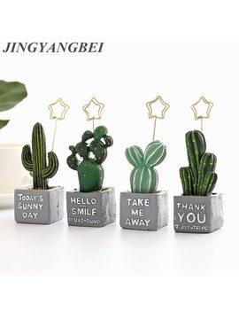 Artificial Resin Succulents Cactus Green Plants Desktop Memorandum Fake Flowers Balls Table Decoration  by Jingyangbei