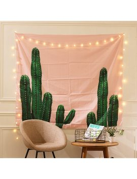 Flamingo Wall Photo Background Booth Cactus Hanging Art Cloth For Wedding Birthday Party Kid Room Decoration Beach Table Mat,8 by Voiley