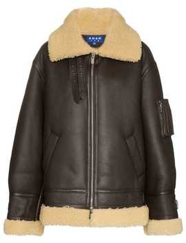 Zipped Shearling Jacket by Ader Error
