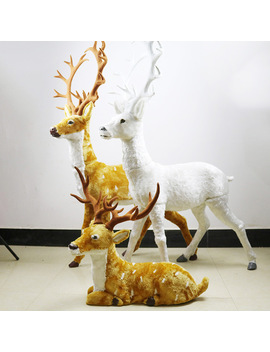 New 1 Pcs Christmas Reindeer Home Decoration Christmas Simulation Plush Reindeer Xmas Elk Plush Toy New Year Decorations by Ali Express