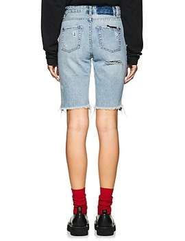 App Laye Long Distressed Denim Shorts by Ksubi