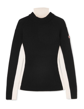 Ciclista Layered Wool Blend,  Wool And Shell Turtleneck Sweater by Moncler Grenoble