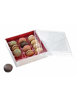 "Wooden Folding Boxes With Shiny Red Interior (Case Of 100), Packn Wood   Colored Interior Macaron Box (6.3"" X 6.3"" X 1.4"") 210 Samred160 by Packn Wood"