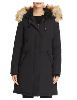 Hooded Faux Fur Trim Parka by Vince Camuto
