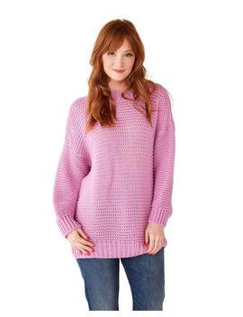 Lilac Oversized Sweater by Ban.Do