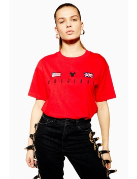 Mickey Mouse Flag T Shirt by Topshop