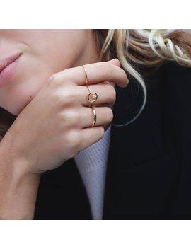 Circle Ring, Dainty Ring, Delicate Ring, Minimal Ring, Stacking Ring, Gold Ring, Cz Ring, Outline Circle Ring, Tiny Ring, Thin Ring by Etsy