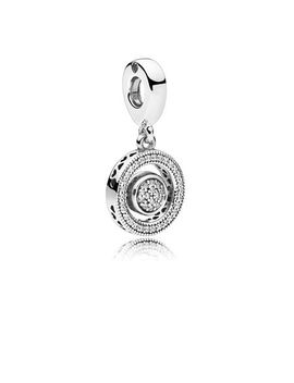 Spinning Pandora Signature Dangle Charm, Clear Cz by Pandora