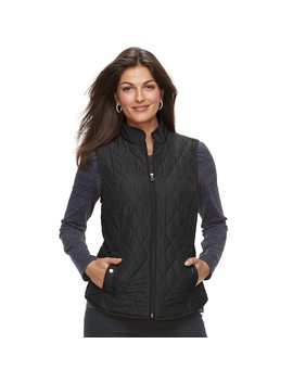 Women's Croft & Barrow® Classic Quilted Vest by Croft & Barrow