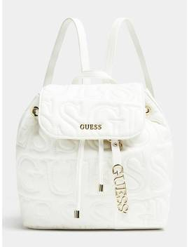 Ginger Large Backpack Embossed Logo by Guess