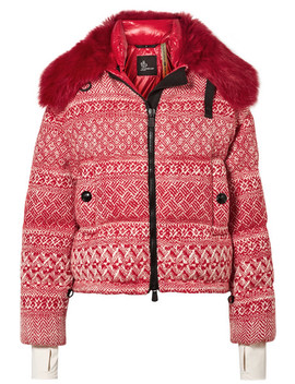 + 3 Grenoble Faux Shearling Trimmed Wool Blend Tweed Down Jacket by Moncler Genius