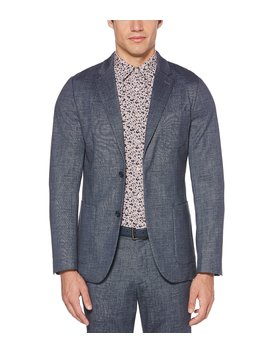 Slim Fit Printed Knit Stretch Jacket by Perry Ellis
