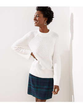 Petite Stitchy Flare Sleeve Sweater by Loft