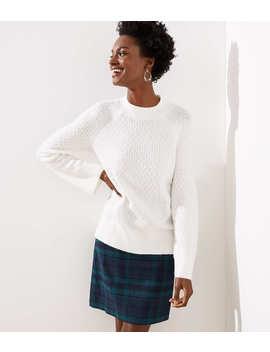 Petite Stitchy Flare Sleeve Sweater by Loft