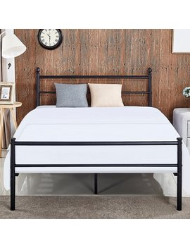 Vecelo Metal Platform Queen Bed Frame /Bed, Box Spring Replacement With Headboard by Vecelo