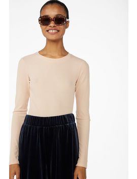Stretchy Ribbed Top by Monki