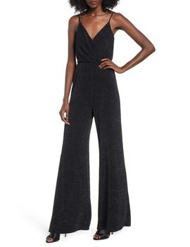 Metallic Wrap Jumpsuit by Row A
